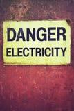 Электричество опасности знака Стоковая Фотография