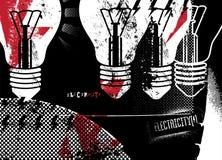 электричество плакат grunge ретро также вектор иллюстрации притяжки corel Стоковое Изображение