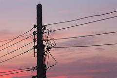 Электричество силуэта стоковая фотография rf