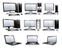 Электроника компьютерной технологии - компьютеры, настольные компьютеры, ПК Стоковые Изображения RF