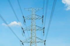 Электронная башня телекоммуникаций стоковое фото rf