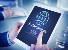 Электронная коммерция выходя онлайн мировоззренческую доктрину вышед на рынок на рынок технологии стоковое изображение rf