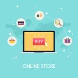 Электронная коммерция, электронное дело, онлайн покупки, оплата Стоковое Изображение RF