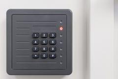 Электронная коробка двери контроля допуска стоковая фотография rf