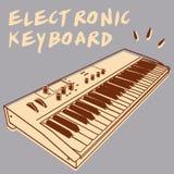 электронная клавиатура Стоковое Изображение RF