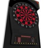 Электронная машина Dartboard на белизне иллюстрация 3d Стоковые Изображения