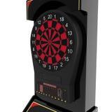 Электронная машина Dartboard на белизне иллюстрация 3d Стоковая Фотография