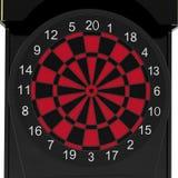 Электронная машина Dartboard на белизне иллюстрация 3d Стоковое Изображение