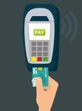 Электронная оплата и технология Стоковая Фотография RF
