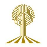 Электронная доска в форме дерева Стоковое Фото