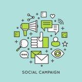 Электронная почта интернета или передвижные уведомления и маркетинг предложения и социальная кампания Стоковая Фотография
