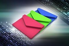 Электронная почта, концепция связи Стоковое Изображение