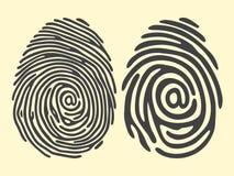 Электронная почта отпечатка пальцев иллюстрация вектора