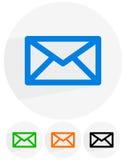 Электронная почта, письмо, символы конверта сообщение, контакт, поддержка Стоковые Фотографии RF