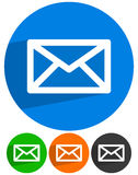 Электронная почта, письмо, символы конверта сообщение, контакт, поддержка Стоковые Изображения RF