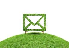 Электронная почта травы символа Стоковая Фотография RF