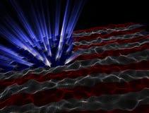 Электронная предпосылка американского флага Стоковая Фотография