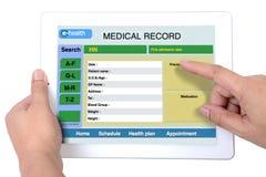 Электронная система здоровья. Стоковое Изображение RF