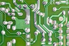Электронное интегрированное - деталь макроса сетей Backgro технологии Стоковое фото RF