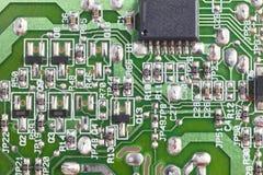 Электронное интегрированное - деталь макроса сетей Backgro технологии Стоковая Фотография RF