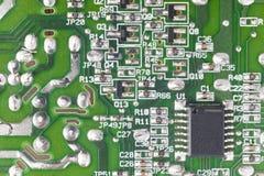 Электронное интегрированное - деталь макроса сетей Backgro технологии Стоковые Изображения RF