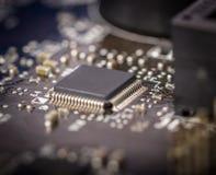 Электронное собрание - монтажная плата компьютера Стоковое фото RF