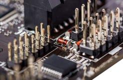 Электронное собрание - монтажная плата компьютера Стоковое Изображение RF