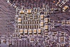 Электронное собрание - монтажная плата компьютера Стоковые Изображения RF