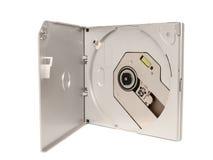 Электронное собрание - привод КОМПАКТНОГО ДИСКА DVD external портативной машинки тонкий стоковые фото