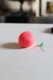 Электронные мягкие цепи с СИД, батареями и глиной моделирования стоковое изображение