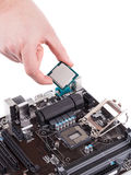 Электронные доска и микросхема Стоковые Фотографии RF