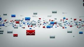 Электронные почты белые иллюстрация вектора