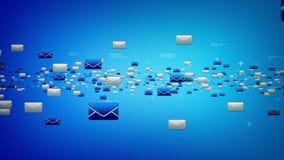 Электронные почты голубые иллюстрация штока