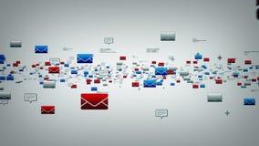 Электронные почты и текстовые сообщения белые иллюстрация штока
