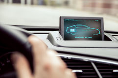 Электронный дисплей автомобиля Стоковые Изображения RF