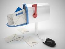 Электронный почтовый ящик Иллюстрация вектора