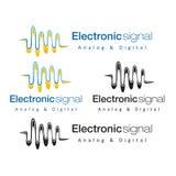 Электронный сигнал непрерывнодискретный Стоковая Фотография