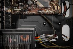 Электропитание компьютера Стоковое Изображение