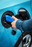 Электропитание для поручать электрического автомобиля Стоковые Фотографии RF