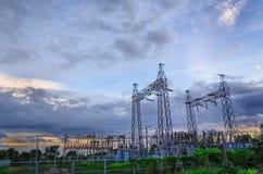 Электростанция и небо Стоковая Фотография RF