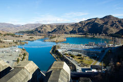 Электростанция энергии воды на Новой Зеландии Стоковая Фотография