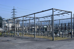 Электростанция для делать электричество на Лугано стоковая фотография