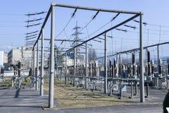 Электростанция для делать электричество на Лугано стоковые изображения
