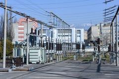 Электростанция для делать электричество на Лугано стоковая фотография rf