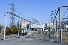 Электростанция для делать электричество на Лугано стоковые фото