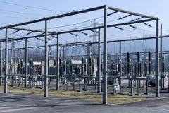 Электростанция для делать электричество на Лугано стоковые изображения rf