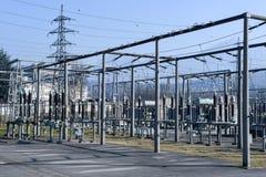 Электростанция для делать электричество на Лугано стоковое фото
