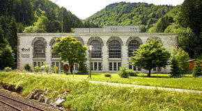 Электростанция (Kraftwerk) в Obermatt Швейцария Стоковое фото RF