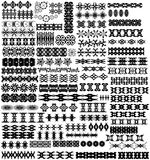 75 элементов дизайна вектора абстрактных Стоковое Изображение