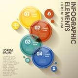 Элементы абстрактного лоснистого ярлыка круга infographic Стоковое Изображение